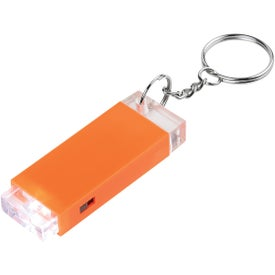Crystal Block LED Light Key Chain
