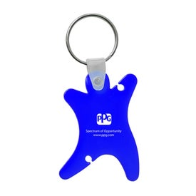 Dancer Keychain with Ear Buds for Your Organization