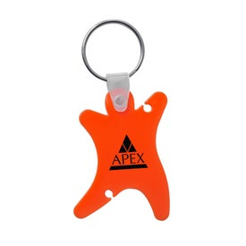 Dancer Keychain with Ear Buds for Advertising