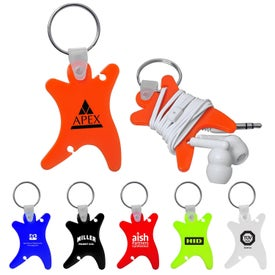 Dancer Keychain with Ear Buds for Your Company
