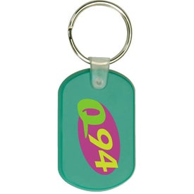 Dog Tag Rectangle Soft PVC Keytag