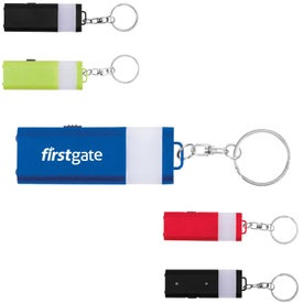 Logo Flat 4 LED Lantern Key Chain