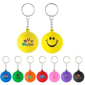 Gumball Stress Reliever Keychain
