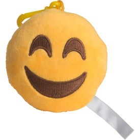 Happy Face Emoji Plush Keychain