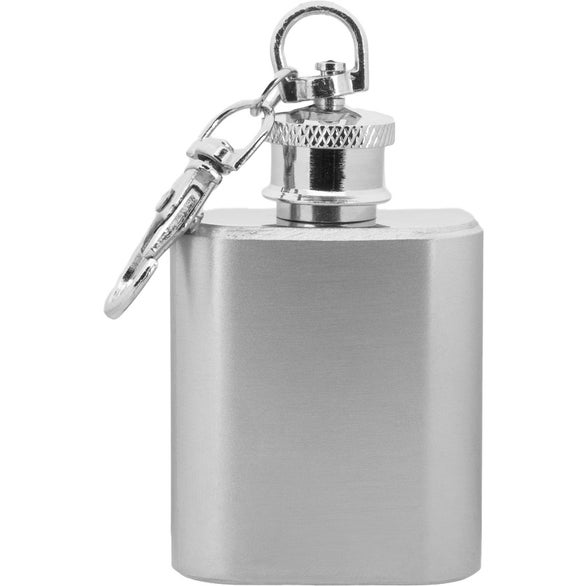 Silver Keychain Hip Flask