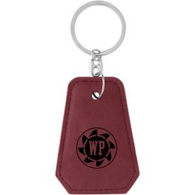 Leatherette Bottle Opener Key Rings