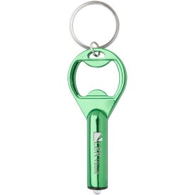 LED Aluminum Key Tag With Bottle Opener