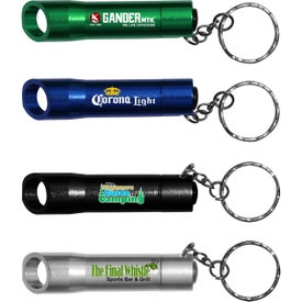 LED Light and Bottle Opener Key Chain (Full Color Logo)