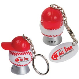 Light Up Baseball and Baseball Hat Keytag