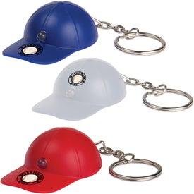 Light Up Baseball Hat Keytag