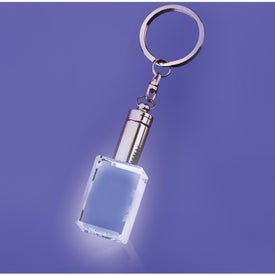 Mansfield White LED Block Shaped Keychain