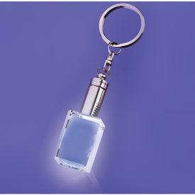 Mansfield White LED Block Shaped Keychain