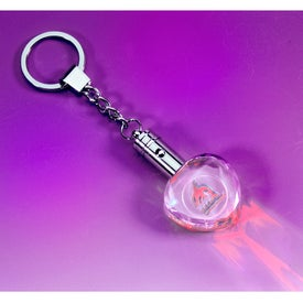Mason Red LED Heart Shaped Keychain