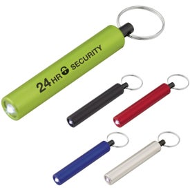 Mini Cylinder LED Flashlight Key Tags