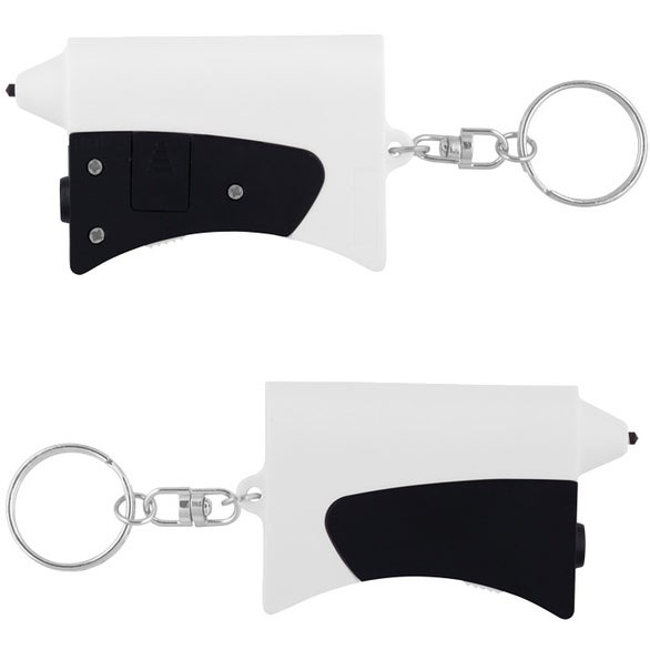 White / Black Mini Emergency Auto Set Key Chain