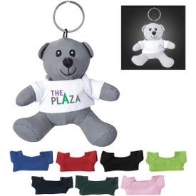 Mini Reflective Bear Key Tags