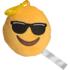 Mr. Cool Emoji Plush Keychain