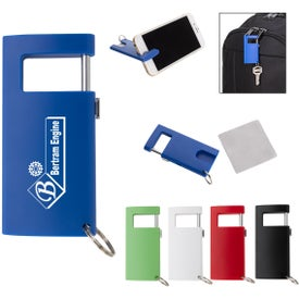 Phone Stand and Cleaning Cloth Key Tag