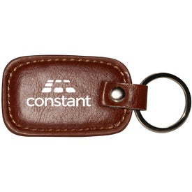 Rectangle Leather Keyring