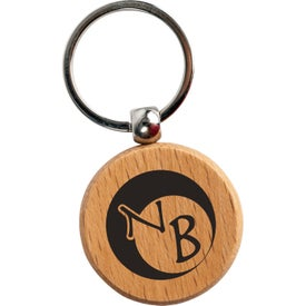 Round Wooden Key Tags