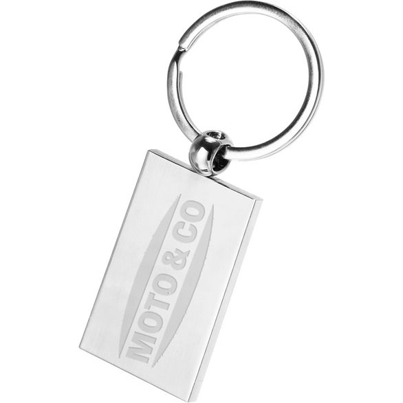 Silver Silver Rectangle Keychain