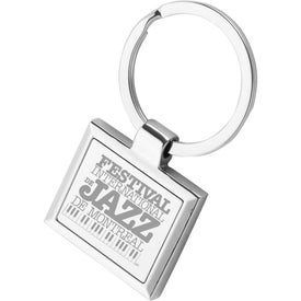 Square Frame Metal Keychain