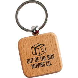 Square Wooden Key Tags