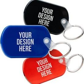 Tag Soft Plastic Keychain