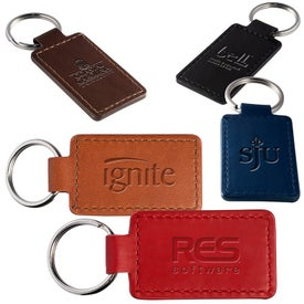 Tuscany PU Leather Rectangle Key Ring