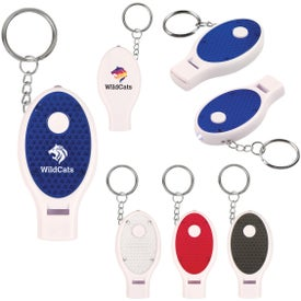 Whistle Key Chain with Light