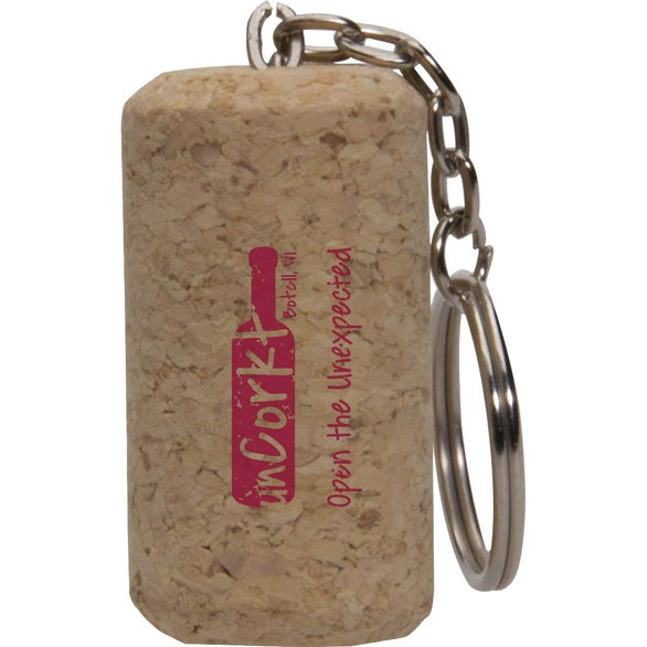 Natural Cork Wine Cork Keytag