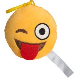 Wink Wink Emoji Plush Keychain