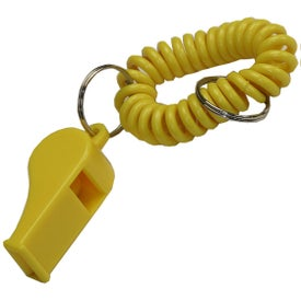 Wrist Coil with Whistle Keyring