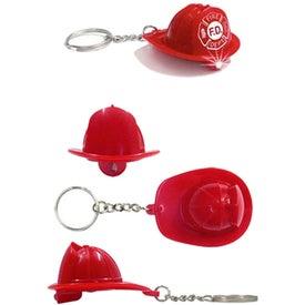 Fireman's Hat LED Light Keychain