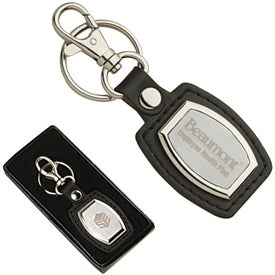 Leather and Brushed Plate Keyrings