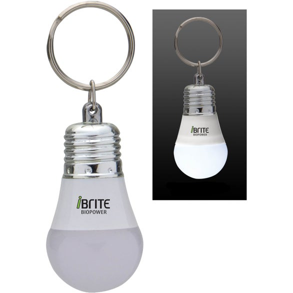 White / Frosted / Silver Light Up LED Bulb Keytag