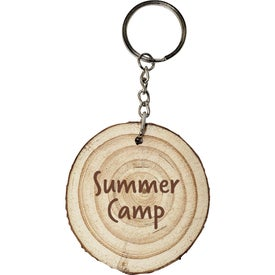 Natural Wood with Rings Keyrings
