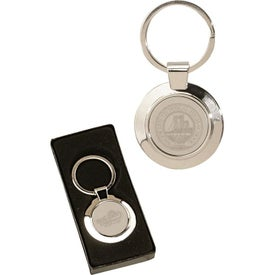 Sterling Silver Plated Circle Keyrings