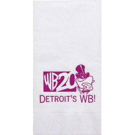 "White Dinner Napkins (4.25"" x 8.5"")"
