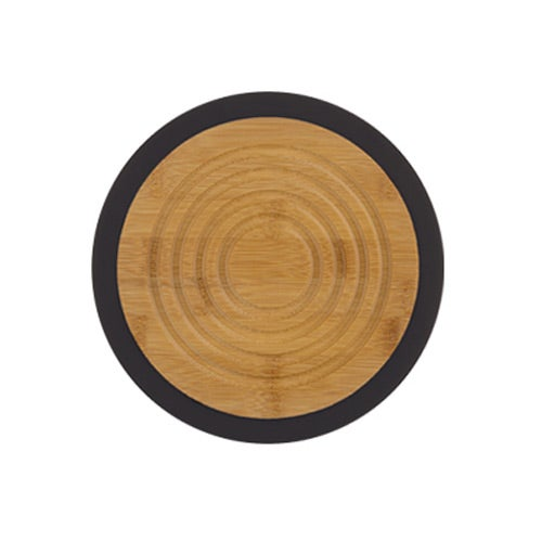 Tan / Black Bamboo And Silicone Trivet