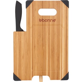 Bamboo Cutting Board with Knife