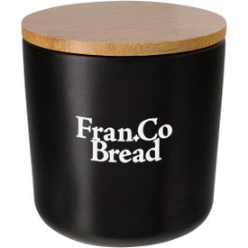 Ceramic Container with Bamboo Lid (17 Oz.)