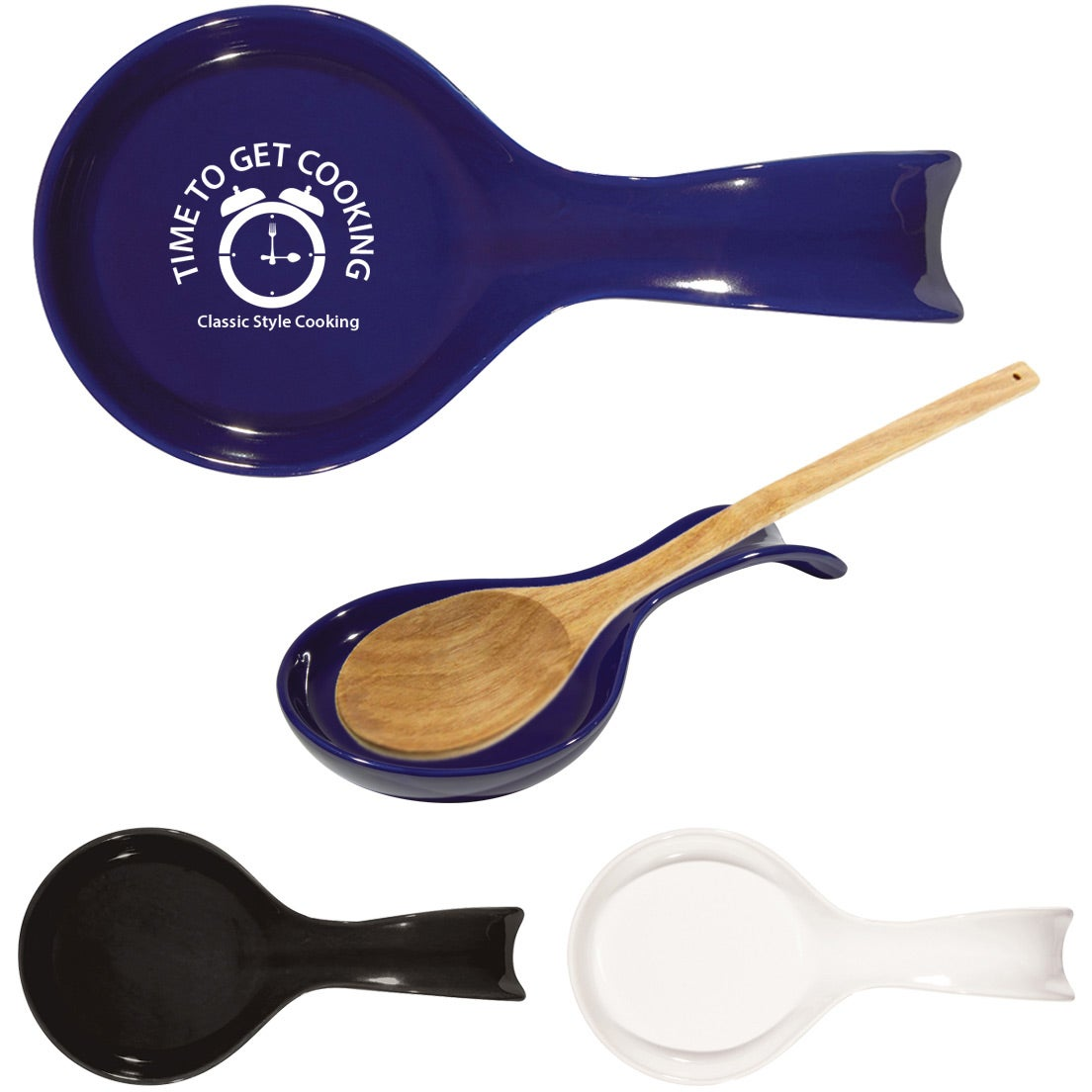 Logo Ceramic Spoon Rests Household Kitchenware