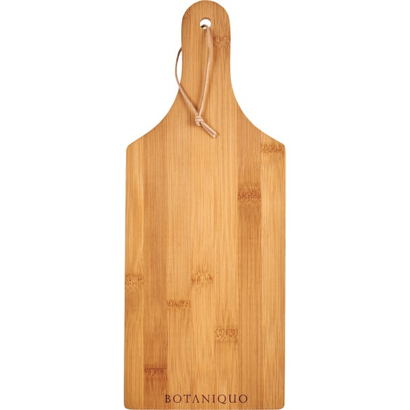 Natural Cutting Board with Handle and Hanging Loop