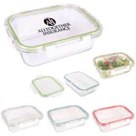 Fresh Prep Square Glass Food Containers