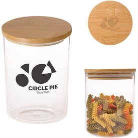 Glass Container with Bamboo Lid (26 Oz.)