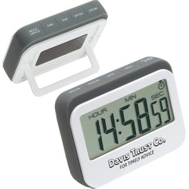 Soft Touch Widescreen Kitchen Timer and Clock