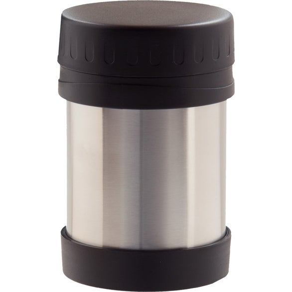 Silver / Black Stainless Steel Insulated Food Container