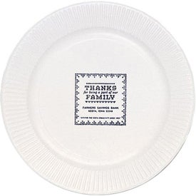 "White Paper Plate (7"", Large Quantity)"