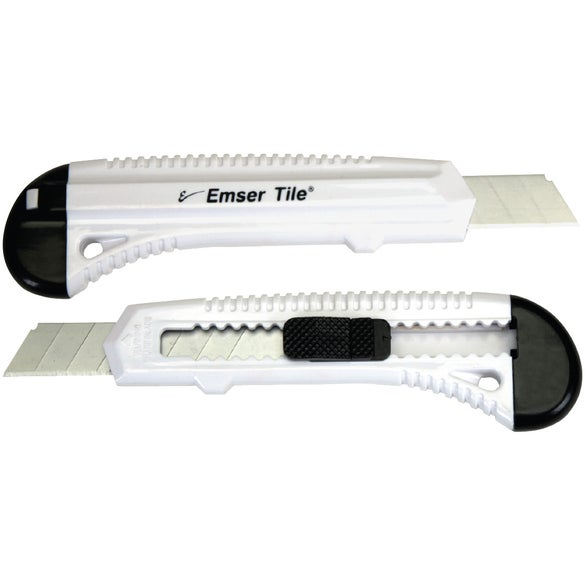 White Utility Knife with Segmented Blades